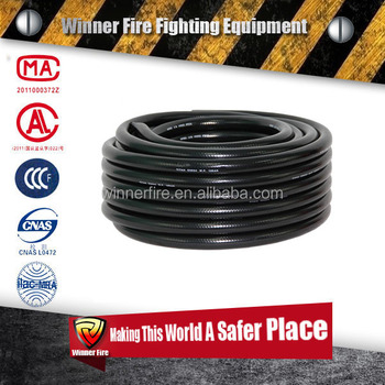 Buy replacement fire fighting hose reel hose with black color for fire hose reel
