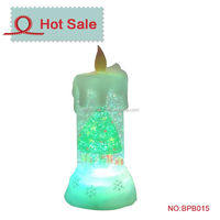 led candle lights snow water globes insert picture