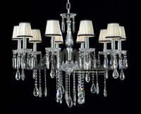 8 lights fabric lamp shades chandelier