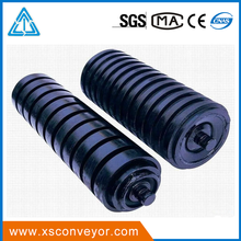 Coal dust proof seal nylon hdpe plastic conveyor roller with roller supports