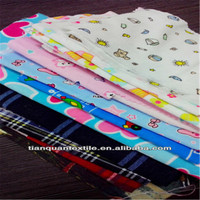 Trade Assurance CVC/TC printed stripe flannel fabric for pajama and shirts