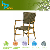 Philippines Bamboo Frame Rattan Chair Furniture / Romantic High Back Garden Bamboo Chair