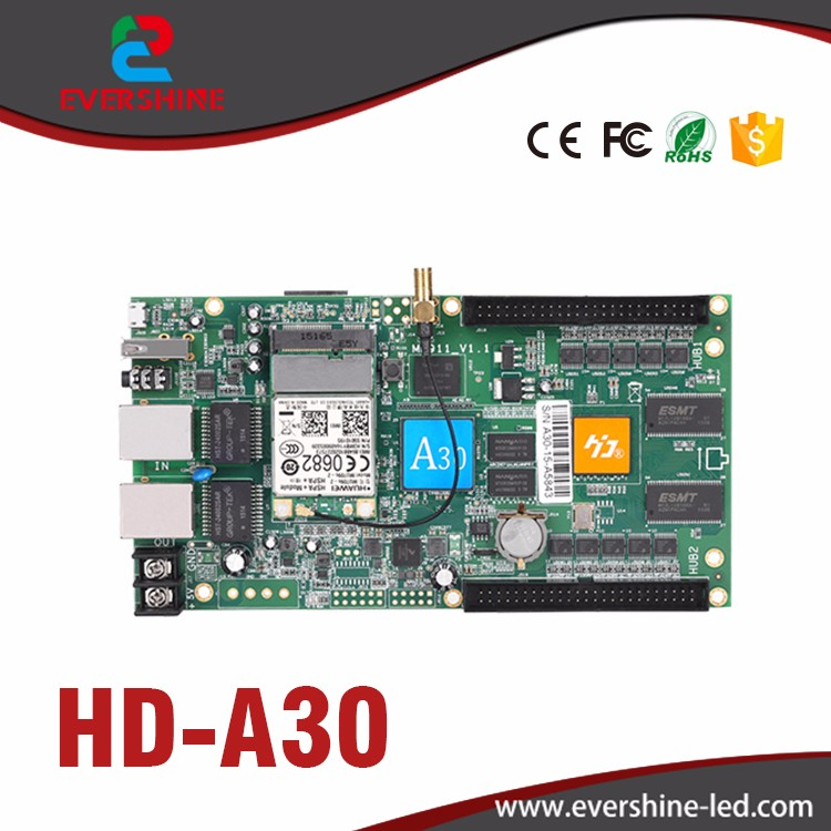 Full color asynchronous controller card A30 HD-A30 special used for large advertisement led display