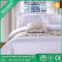 WEISDIN OEM modern design of white hospital cheapest bed linen duvet cover