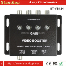 4 Way RCA Connector Car Video Booster
