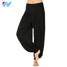Yihao 2015 Women Yoga Pants Ladies Harem Yoga Sport Pant Trousers Belly Dance Elastic Waist Boho Wide Leg Pants