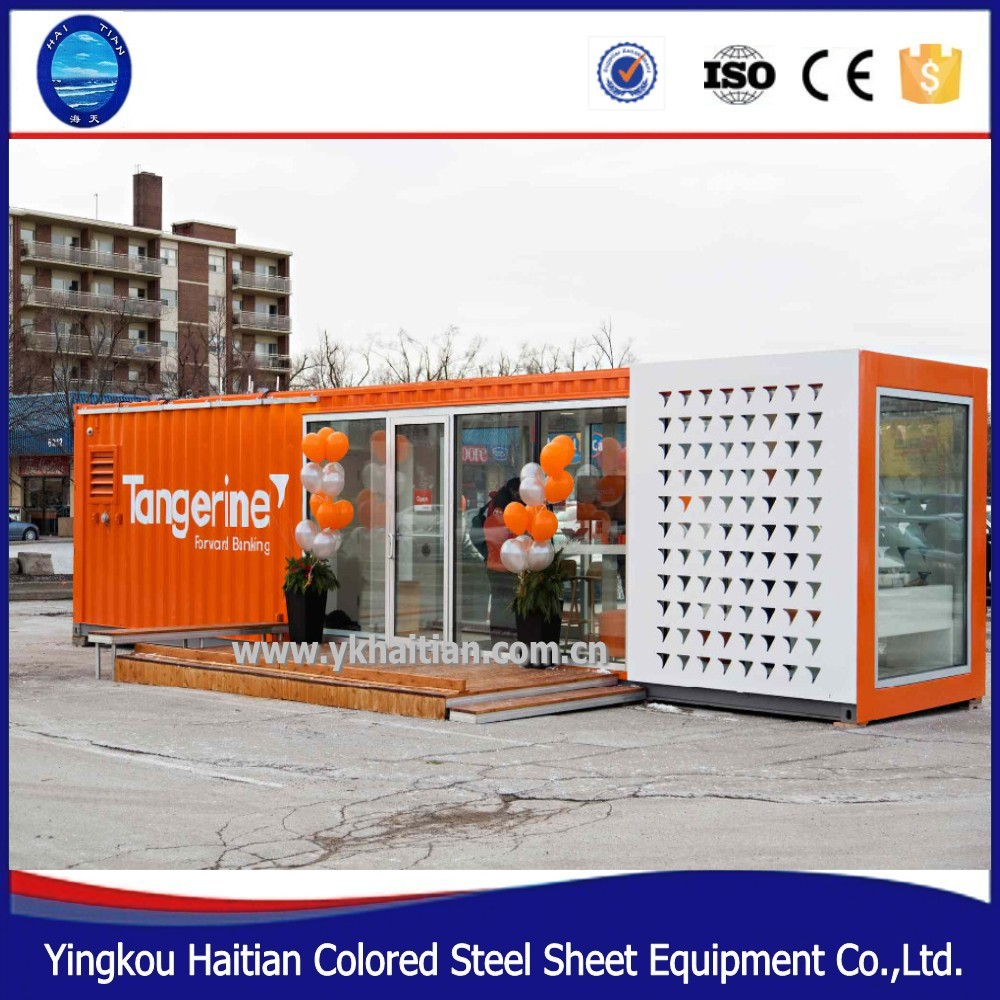 Outdoor modular shipping container restaurant design mobile food shop container coffee shop prefabricated shopping mall design