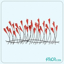China custom supplier customized reed decoration outdoor metal flower wall art