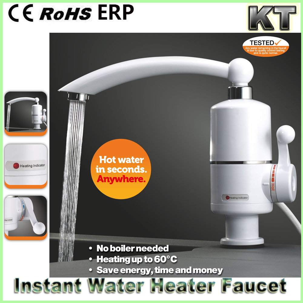 220V 3000w Instant Tankless Heating Electric Faucet 360 Rotate Kitchen Water Heater Mixer Tap
