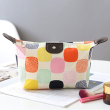 eco beauty fashion promotional canvas cosmetic bag makeup cosmetic bag leather