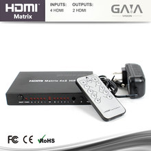 High Speed Ultra HD HDMI 4x2 Matrix support OEM with audio Amplifier