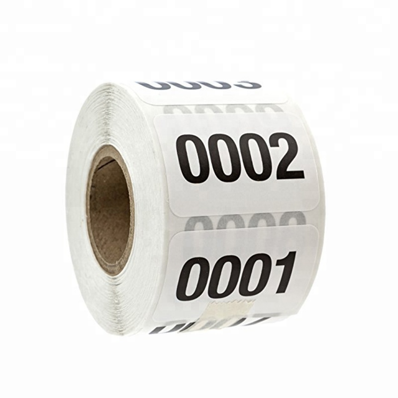 Changeable QR Code Series Numbers Private Label Consecutive Stickers