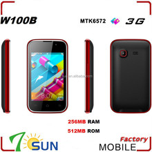 W100B Smartphone Android 4.2 MTK6572M 3.5 Inch Wifi FM Bluetooth no brand android phones