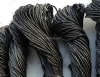 graphite rope(cord) twisted braided carbon fiber rope