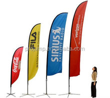 Outdoor advertising promotion feather beach flag
