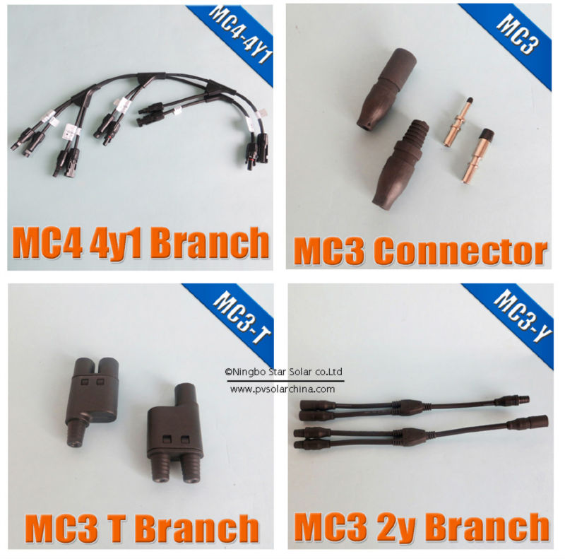 MC4 FUSE Connector TUV Waterproof IP67 for solar panel cable connect
