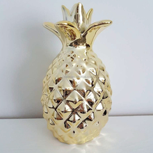 Wholesale Ceramic gold pineapple ornaments fruit sculpture supplier