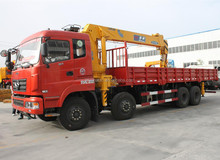 12 wheel 8x4 dongfeng chassis truck mounted 12 ton crane truck euro 3