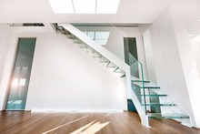 Price of customized glass stairs price