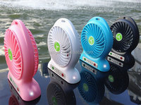 wholesale price portable mini usb fan with led light, handheld mini fan with usb for outdoor