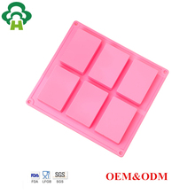 Free Shipping Wholesale rectangle high quality silicone durable soap making baking tool candle concrete mold silicone for soap