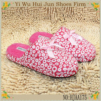 2016 Factory Direct Sales Ladies Indoor Cotton Slippers Low Price Warm Slippers