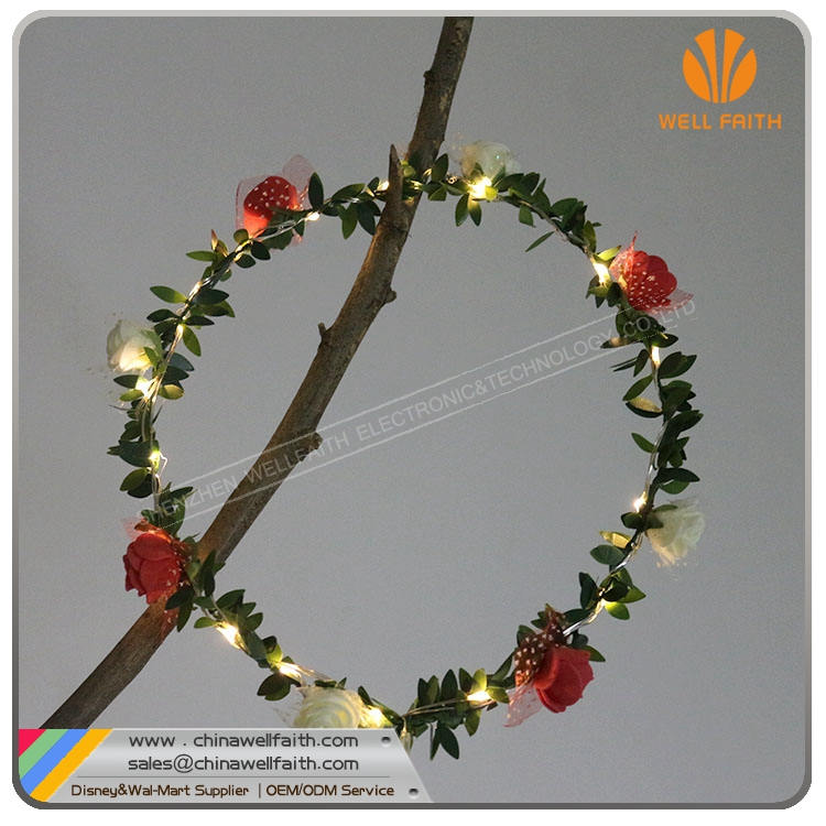 Head Flower Garland With LED Lighting Star