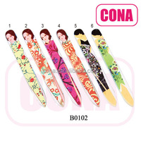 High quality girl printed crystal nail files B0102