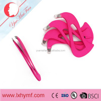 Professional Eyebrow Stainless Steel Pink Tweezers