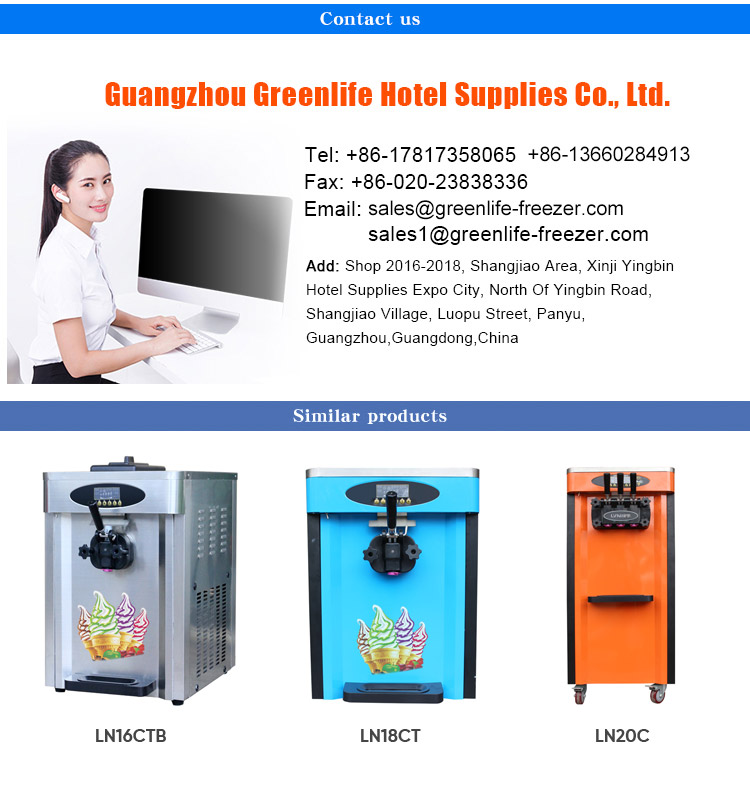 LVNI high quality commercial 14 bowls gelato ice cream machine refrigerator freezer fridge with glass door