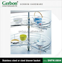 2 layer 270 degree Revolving Stainless Steel Basket