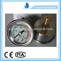 low price stainless steel oil filled differential pressure gauge
