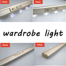 Aluminum Hanger Rod LED USB rechargable light/LED wardrobe lights aluminum profile shell