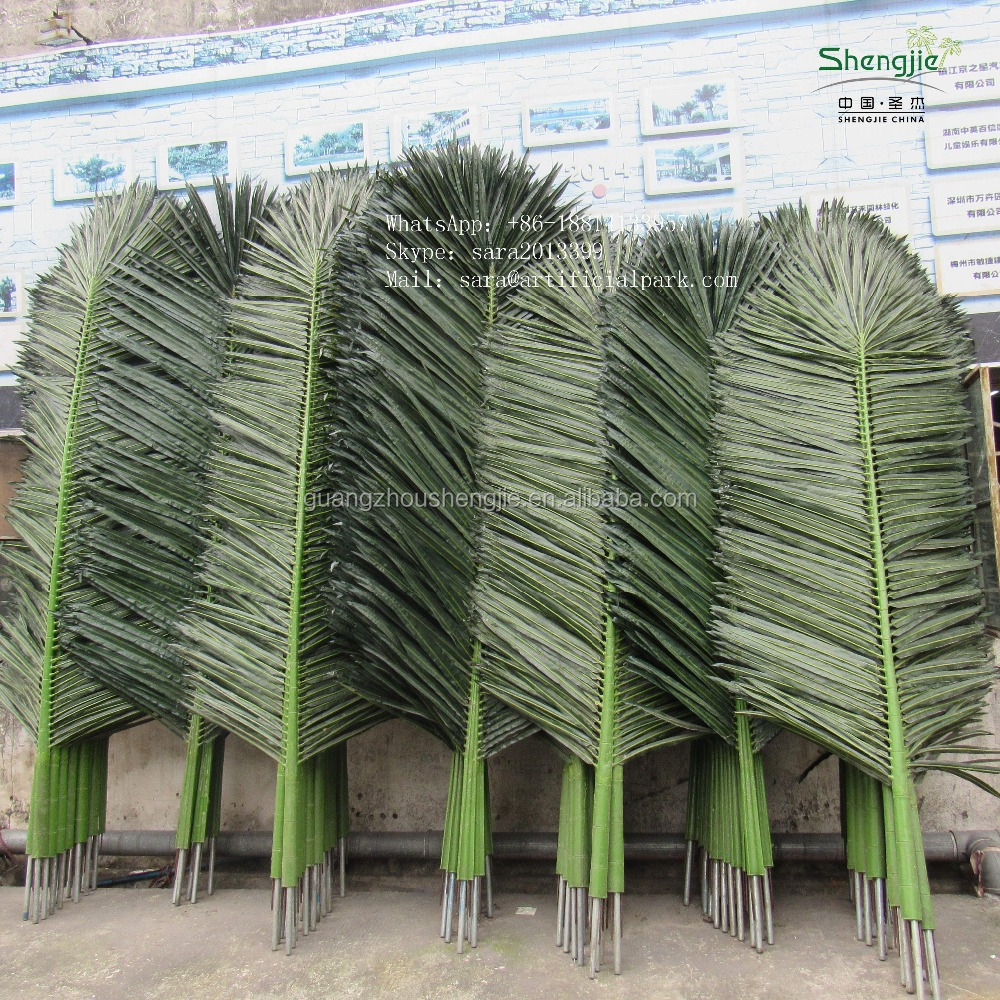 Outdoor plastic branch garden decoration artificial palm cocount tree leaves