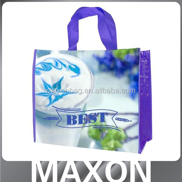 advertising use good idea food grade bopp laminated woven bag for rice 50kg