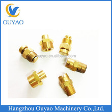 CNC machining precision brass turned parts for industrial uses