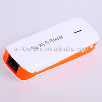 Pocket 3G router with 1800mAh lithium battery support outside 3G modem same with Hame A1