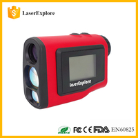 Hot sales Golf rangefinder Red color LCD Screen 6x21 600m laser distance measure device with Slope and Pinseeker