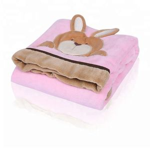 China market new arrival super soft wame rabbit swaddle blanket baby for winter