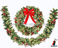 60cm Artificial Christmas wreath with decorations