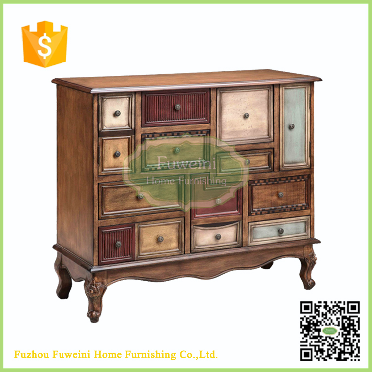 french antique chinese medicine solid wood cabinet