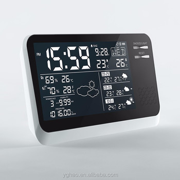 digital 433mhz with time weather station clock wireless weather station