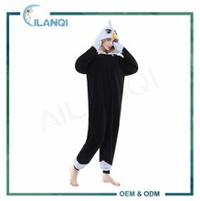 ALQ-A071 Winter thermal footed pajamas flannel adult couple onesie