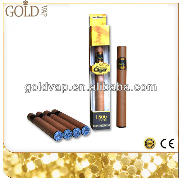 Up to 1800 puffs disposable e-cigar rechargeable e-cigar with nice vapor for sale