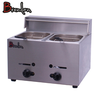 2 Tank commercial stainless steel deep fat fryer