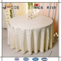 Hot Selling Pure Polyester Table Linens 120 Inch Round White Tablecloth