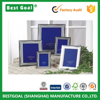Home decorative silver metal aluminum arc-shaped photo frame picture frame