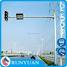 accurately machined galvanized road steel sign poles for sale