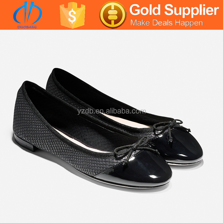 elegant fashion ballet latest design low heel women dress shoes