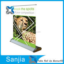 Promotion Table Roll Up Stand A3 Mini Roll Up Banner PP Paper Roll Up Stand